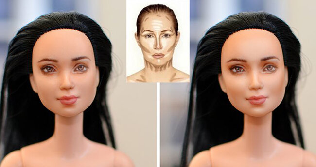 OOAK Made to Move Black Hair Barbie, Eve, Plastically Perfect - Photoshop Makeup Example 01.jpg