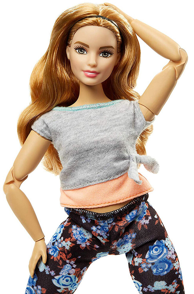 curvy articulated made to move barbie mattel - Strawberry Blonde - plastically perfect 01.jpg