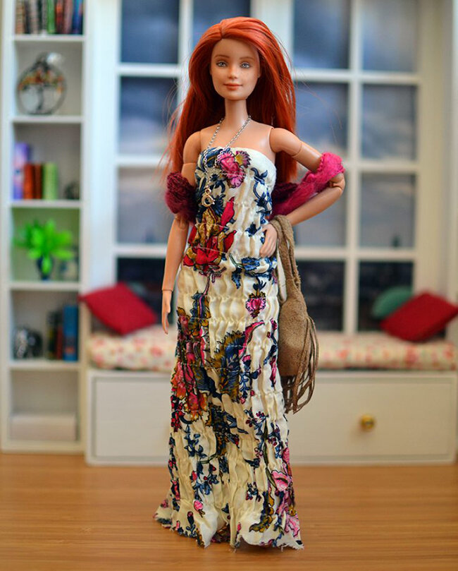 OOAK red hair made to move Barbie, Anne, Plastically Perfect - OOTD capsule wardrobe outfit 03.jpg