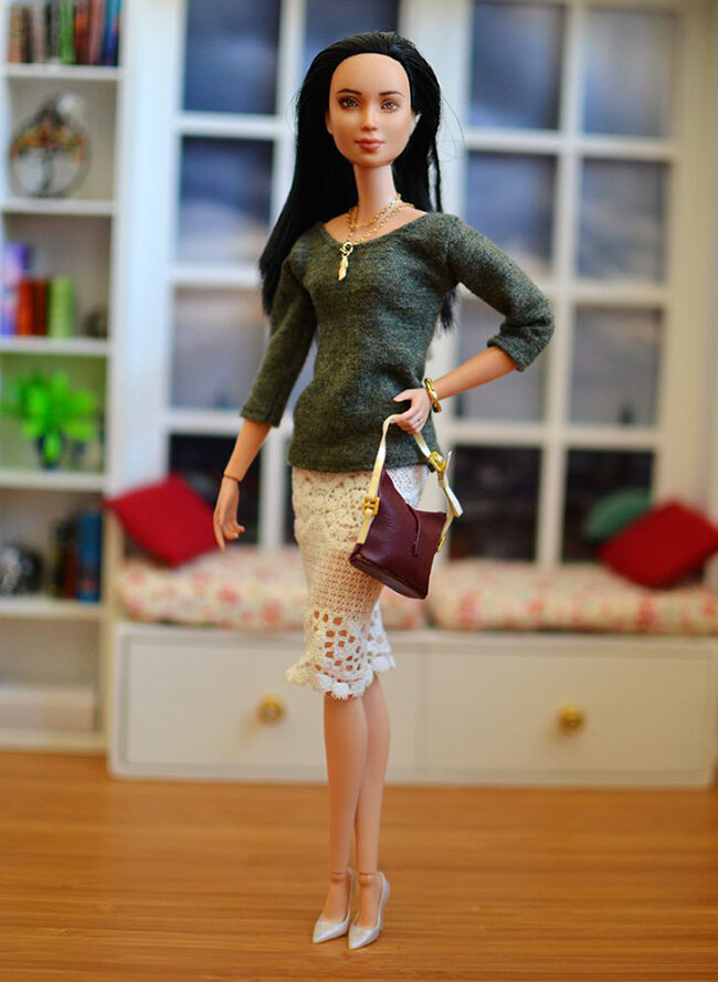 OOAK black hair made to move Barbie, Eve, Plastically Perfect - OOTD capsule wardrobe outfit 05.jpg