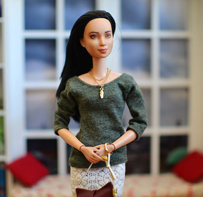 OOAK black hair made to move Barbie, Eve, Plastically Perfect - OOTD capsule wardrobe outfit 06.jpg