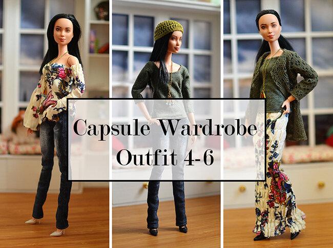 OOAK black hair made to move Barbie, Eve, Plastically Perfect - OOTD capsule wardrobe outfit 4 5 6 - media.jpg