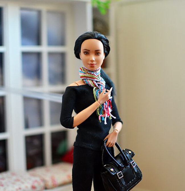 OOAK black hair made to move Barbie, Eve, Plastically Perfect - OOTD capsule wardrobe outfit 7 pic 02.jpg
