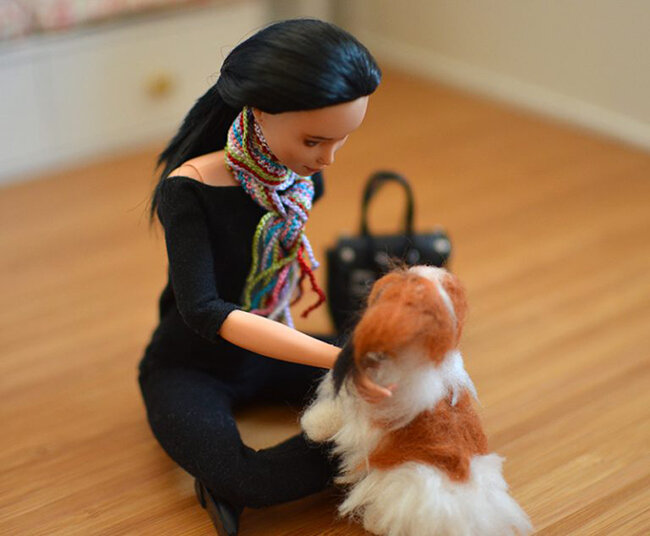 OOAK black hair made to move Barbie, Eve, Plastically Perfect - OOTD capsule wardrobe outfit 7 pic 05.jpg