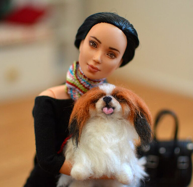OOAK black hair made to move Barbie, Eve, Plastically Perfect - OOTD capsule wardrobe outfit 7 pic 06.jpg