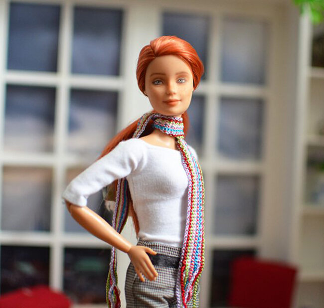 OOAK redhead made to move barbie - Plastically Perfect - OOTD capsule wardrobe outfit 11 pic 02.jpg