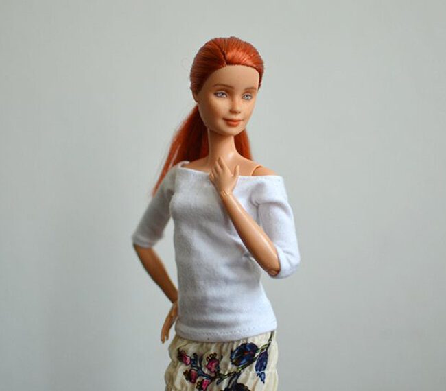 OOAK repainted made to move Barbie, Anne, Plastically Perfect - OOTD capsule wardrobe outfit 15, pic 02.jpg