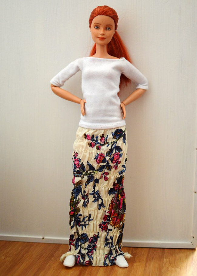 OOAK repainted made to move Barbie, Anne, Plastically Perfect - OOTD capsule wardrobe outfit 15, pic 01.jpg