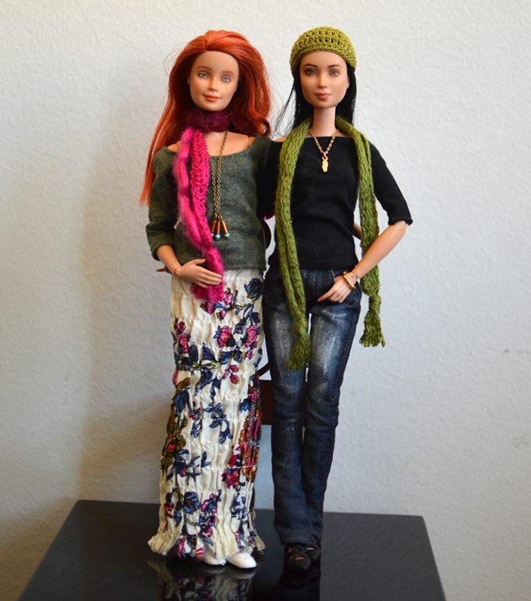 OOAK barbie red hair mtm & black hair mtm - Plastically Perfect - OOTD capsule wardrobe outfit 21 & 22 - earth day special media.jpg