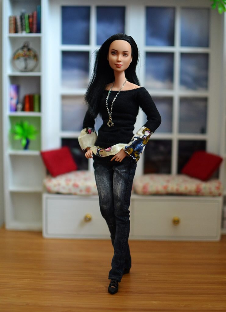 OOAK barbie black hair made to move repaint - Plastically Perfect - OOTD capsule wardrobe outfit 26 pic 03.jpg