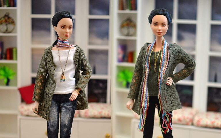 OOAK barbie black hair made to move repaint - Plastically Perfect - OOTD capsule wardrobe conclusion.jpg