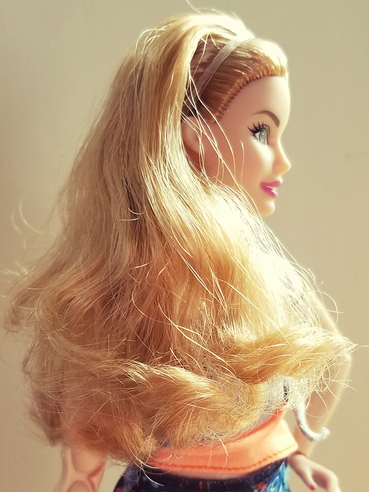 Plastically Perfect - Playscale Enthusiast Doll Review - 2018 Strawberry Blonde Curvy Made to Move Barbie 03.jpg