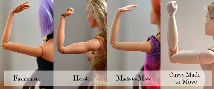 Plastically Perfect - Playscale Enthusiast Doll Review - 2018 Strawberry Blonde Curvy Made to Move Barbie - Body Compare 09.jpg