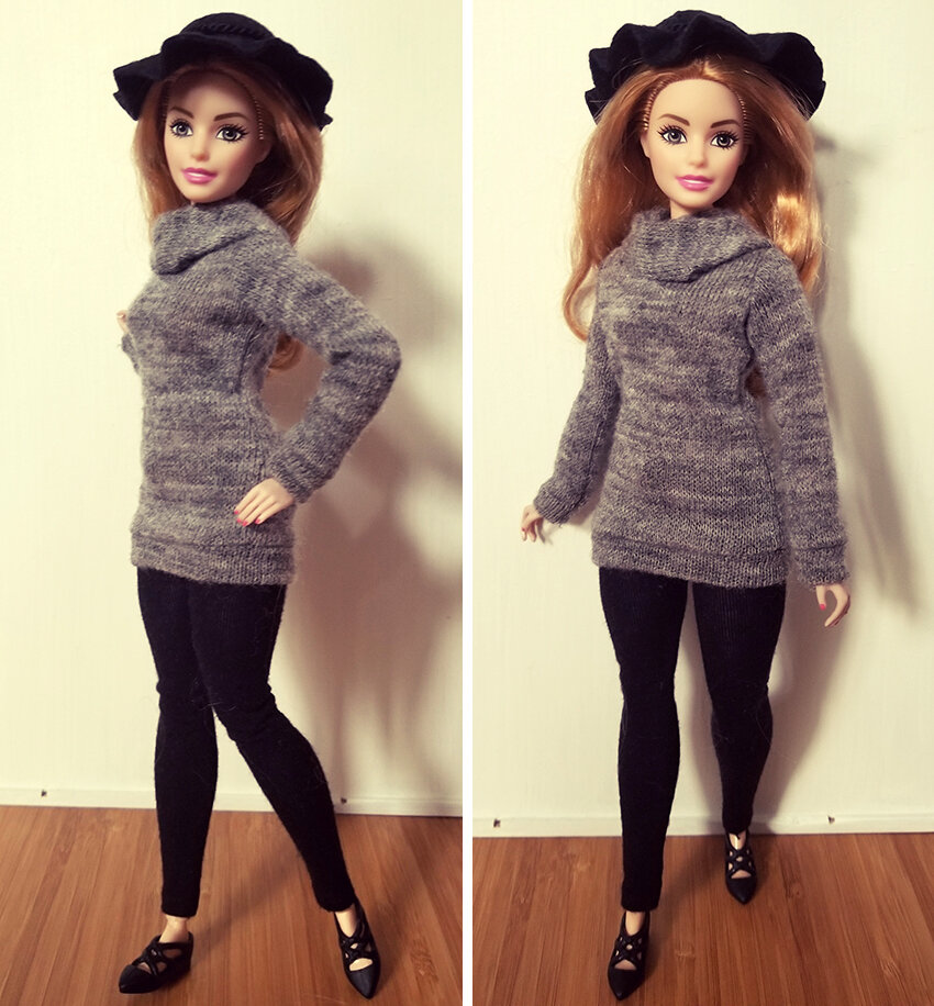 Plastically Perfect - Playscale Enthusiast Doll Review - Clothing Share - 2018 Strawberry Blonde Curvy Made to Move Barbie 01.jpg