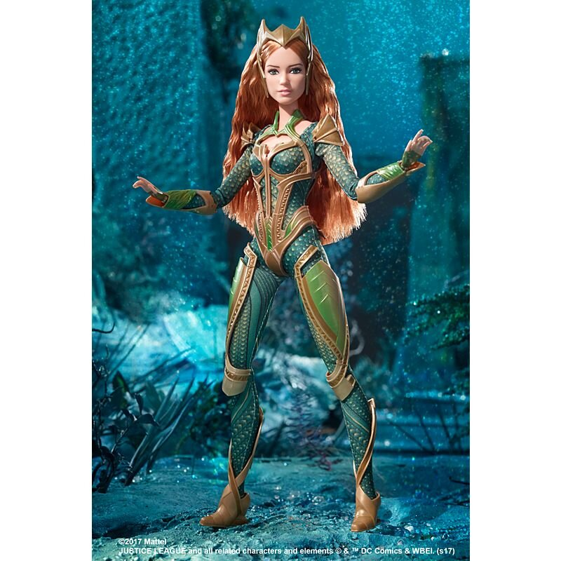 Plastically Perfect - Playscale Enthusiast Doll Review - 2017 Justice League Mera Barbie 01.jpg