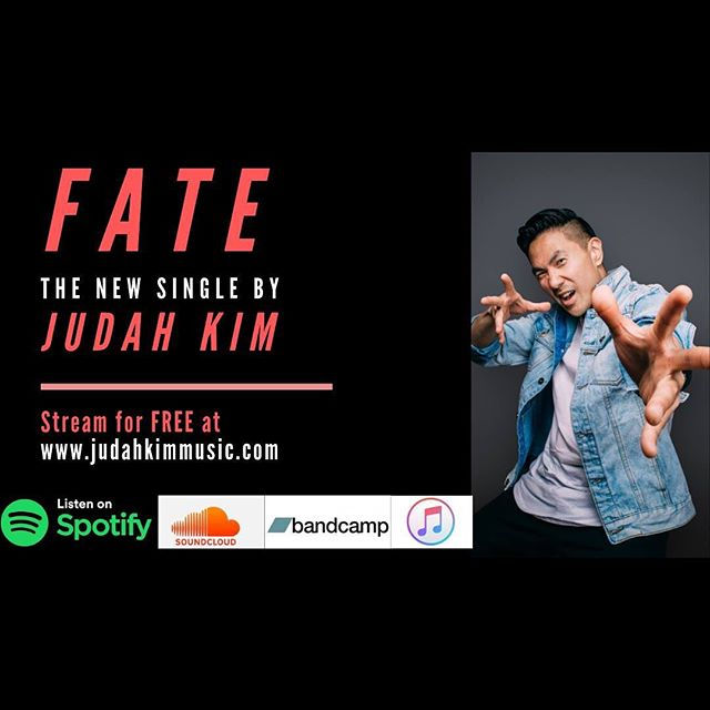 "Ladies and gentlemen, I present, my latest single, ""FATE"" at www.judahkimmusic.com (LINK IN BIO) s/o to @tedaudio for co producing this with me, @im.stein on drums and @masteringhouse (additional production). Thanks in advance for listening and sharing this around!✊🏻❤️"