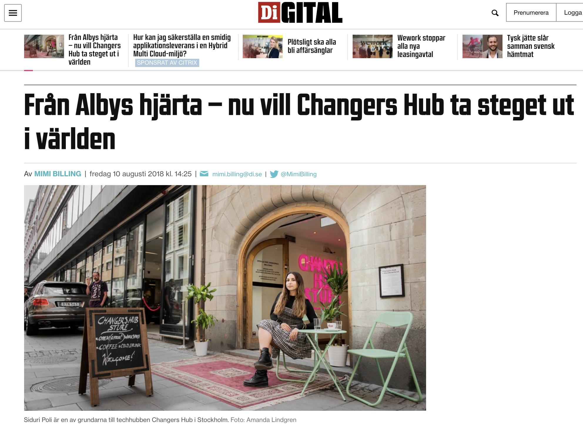 Di Digital: Från Albys hjärta - ut i världen