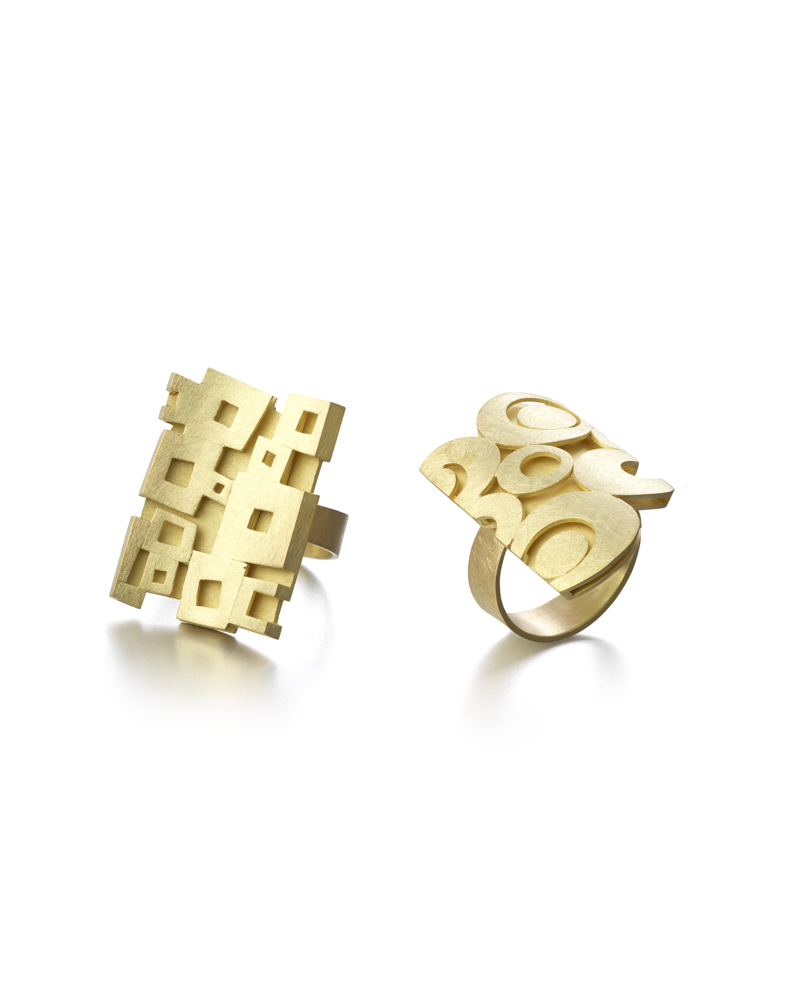 Louise O'Neill-two 18ct 'retro' rings.jpg