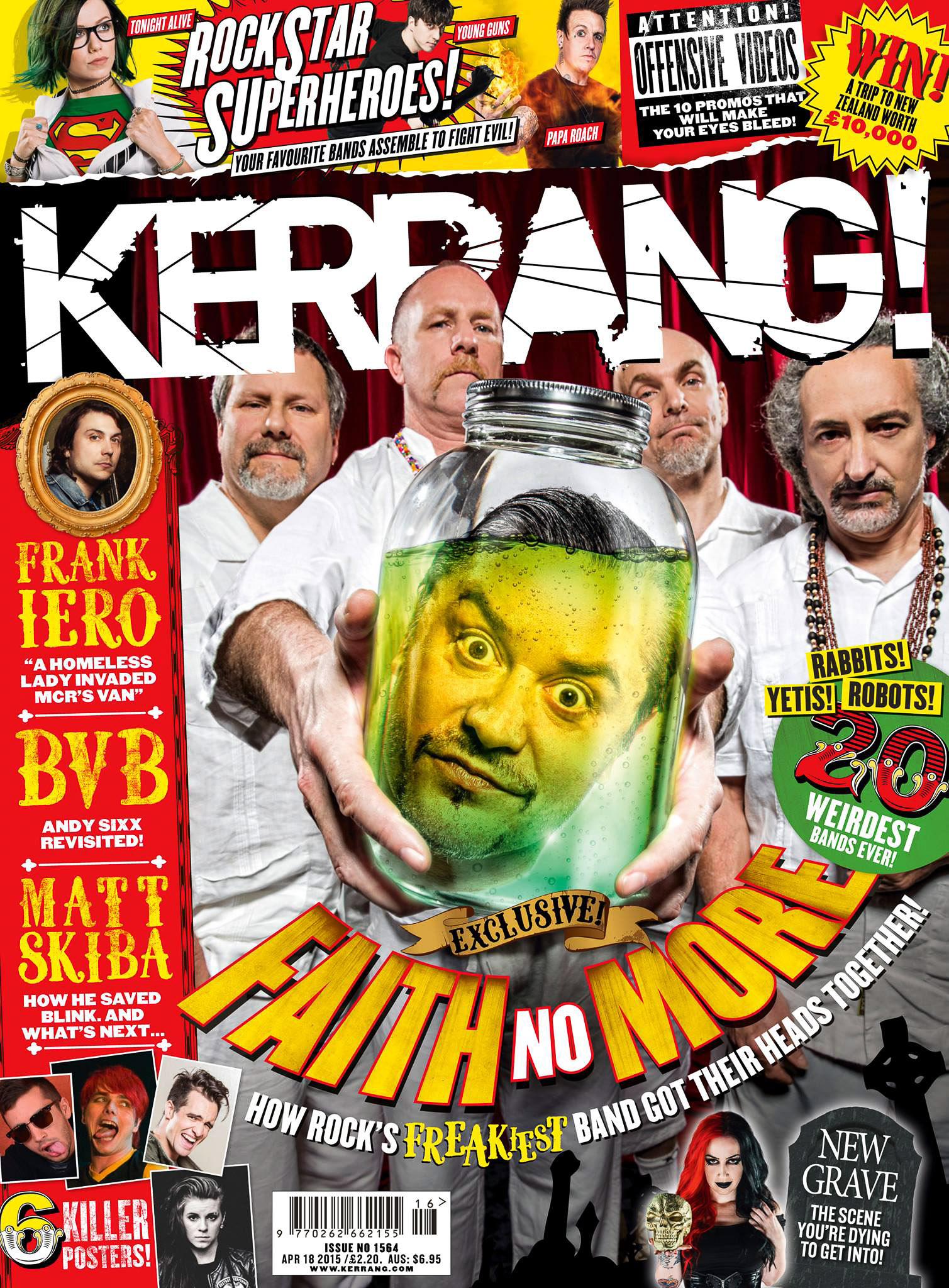 Faith No More Kerrang cover