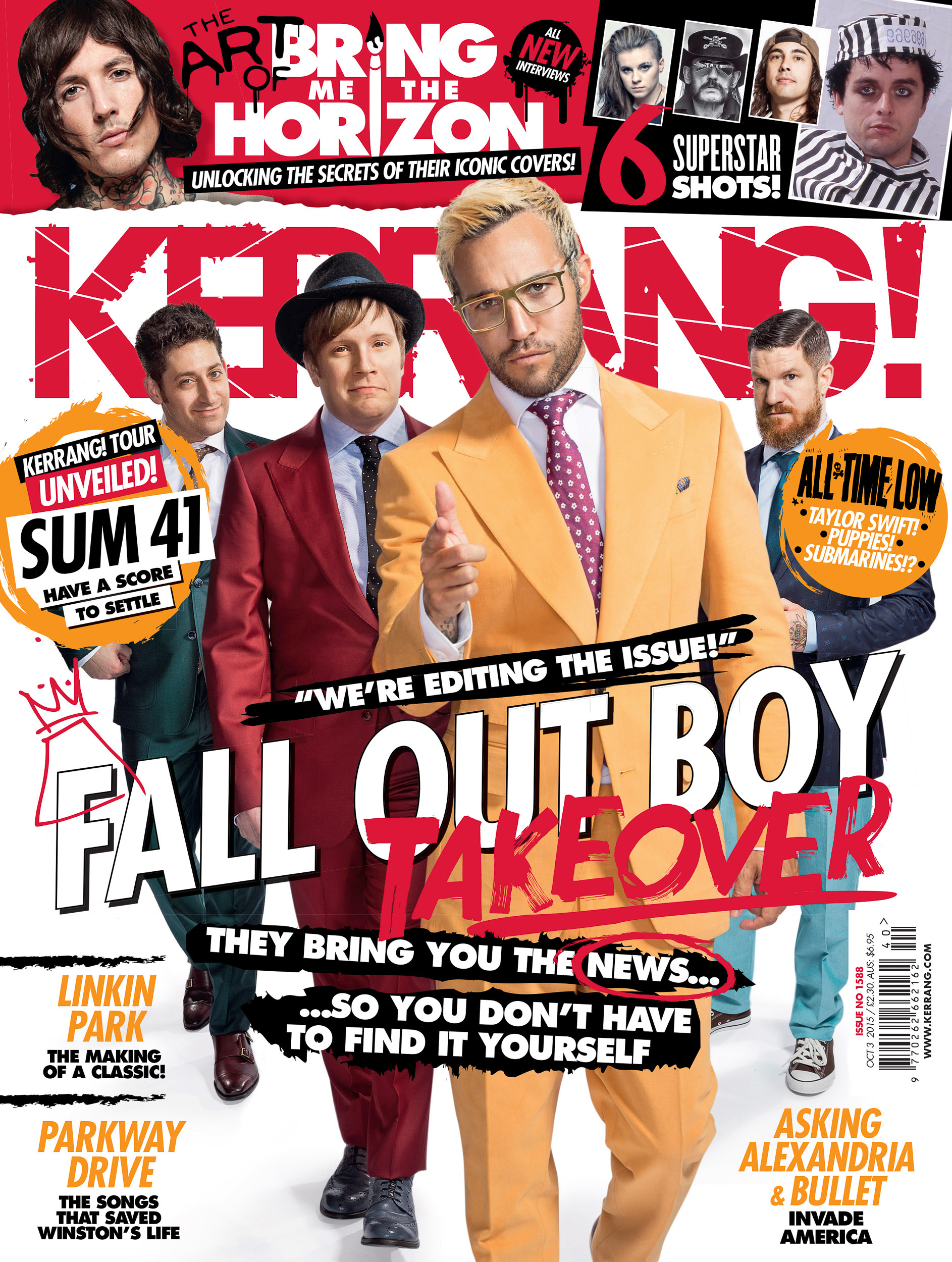Fall Out Boy - Kerrang Cover