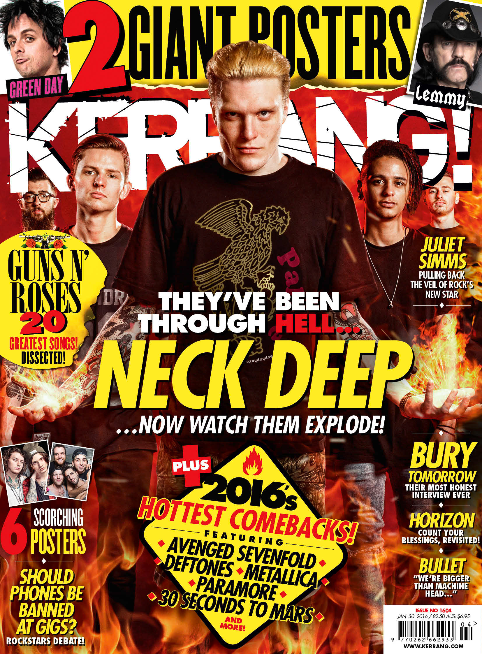Neck Deep Kerrang cover