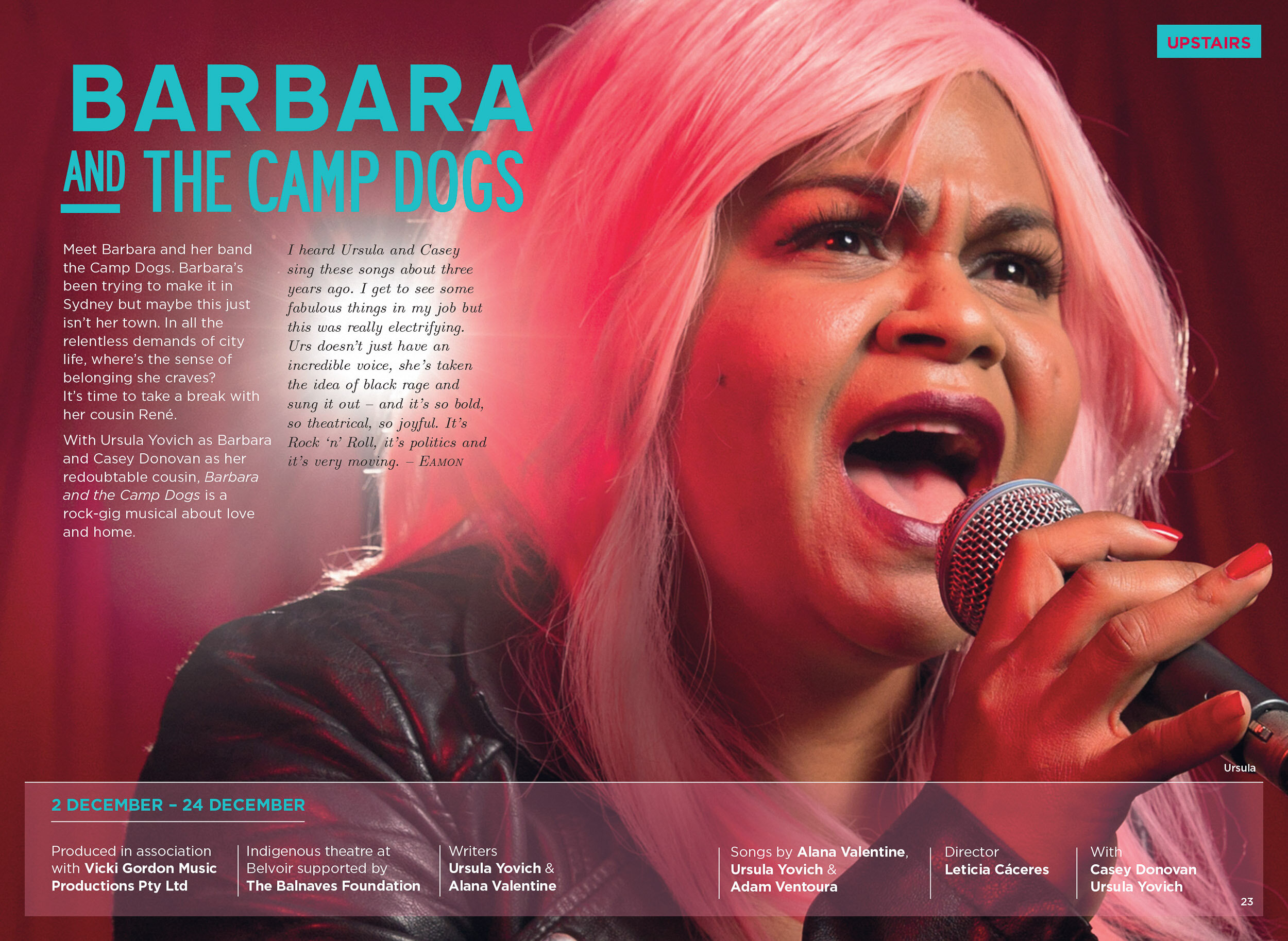Barbara and the Camp Dogs - Belvoir Theatre