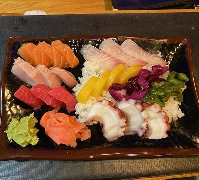 Come and try our chirashi plate, sashimi and pickles over sushi rice, perfect for a light meal! We can make it spicy too!