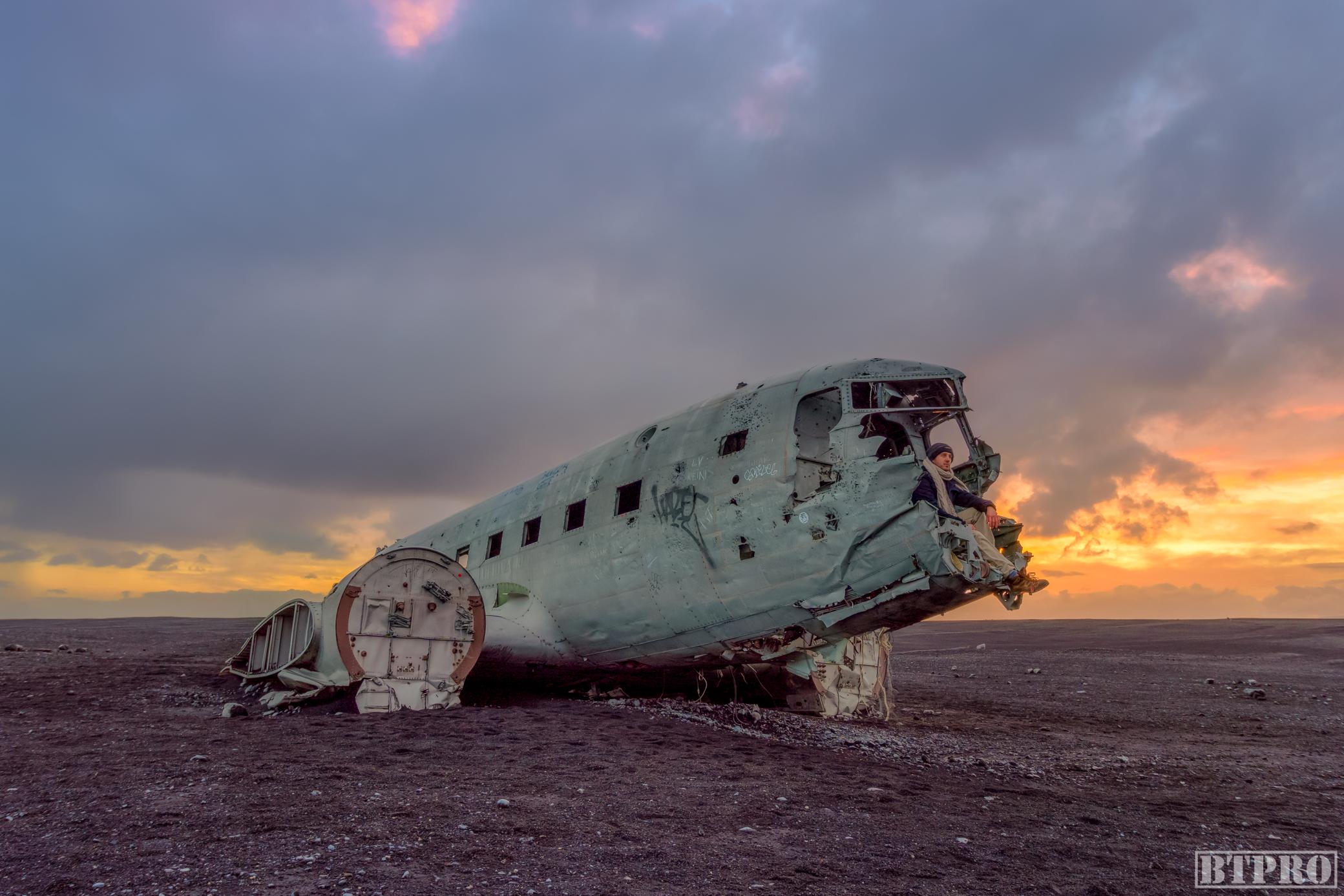DC3 Plane Wreck at Sunset