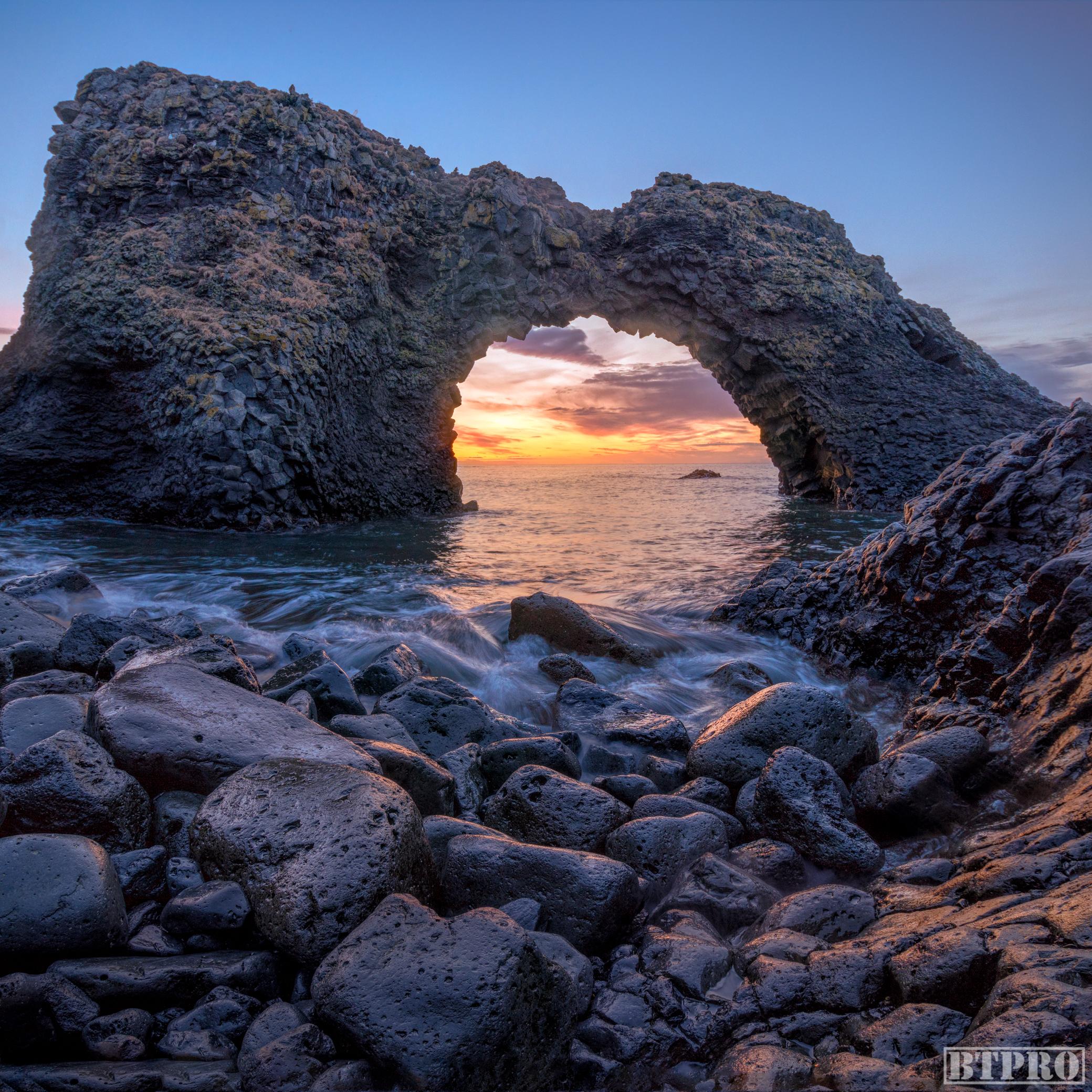 Arnarstapi Arch at Sunrise