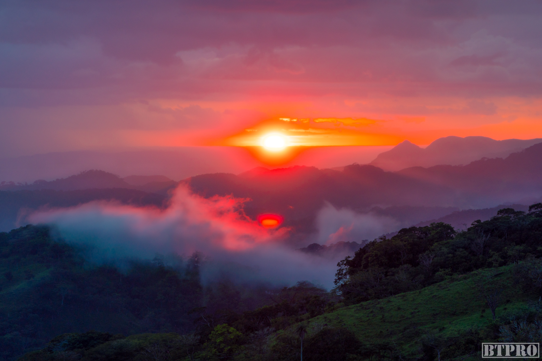 Sunset in the Mountains of Monteverde