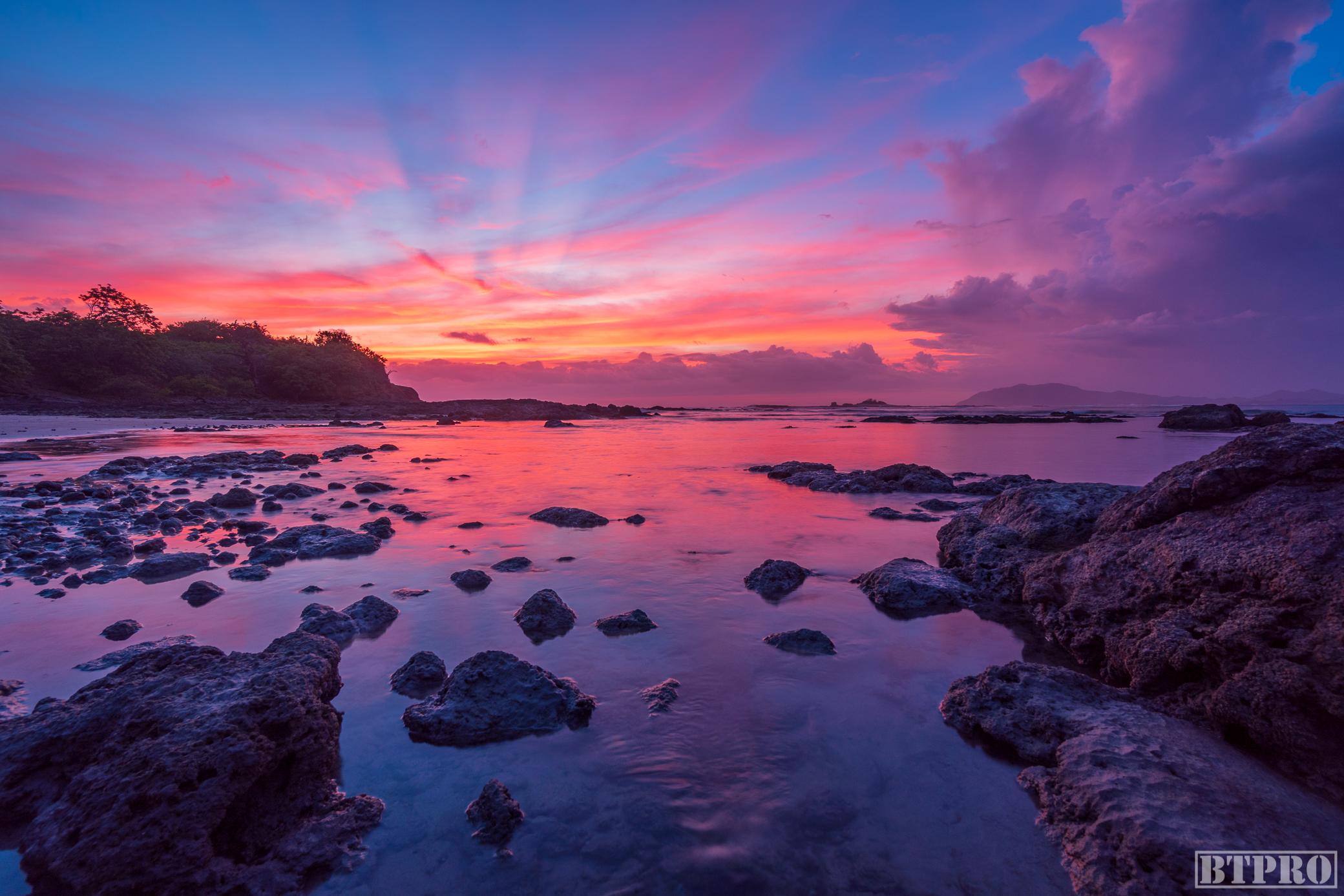Sunset at the Tamarindo Tidepools