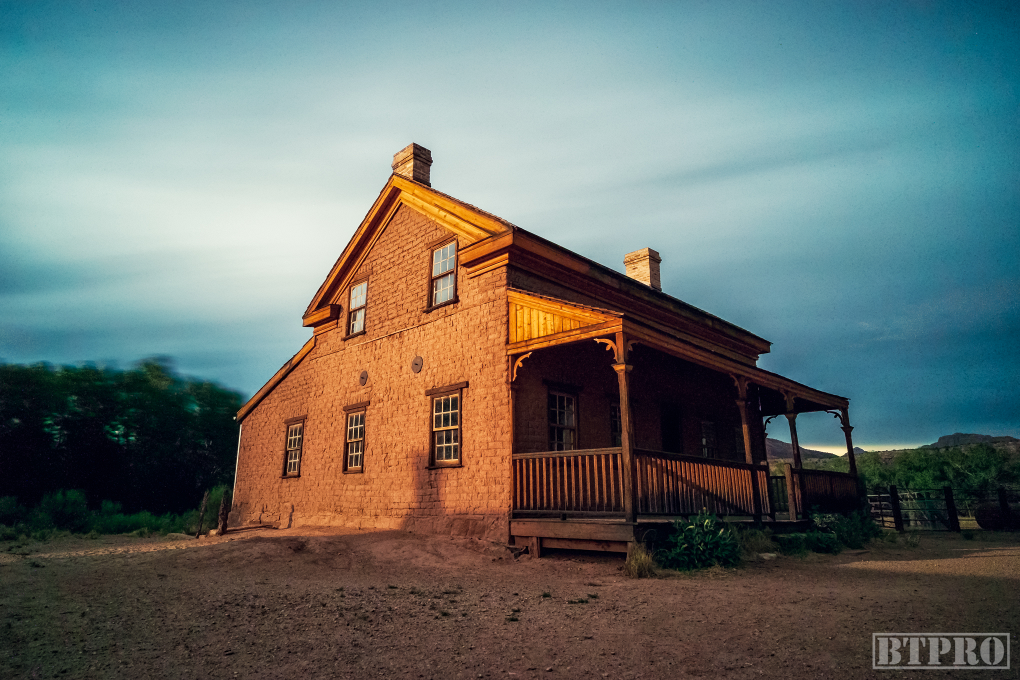 Sunset at Grafton Ghost Town