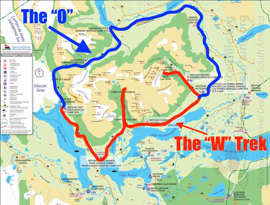 Torres Del Paine Main Trails
