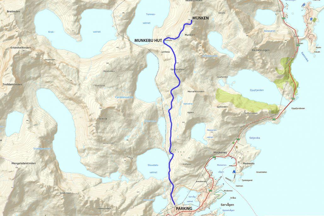 Munkebu Hike Map