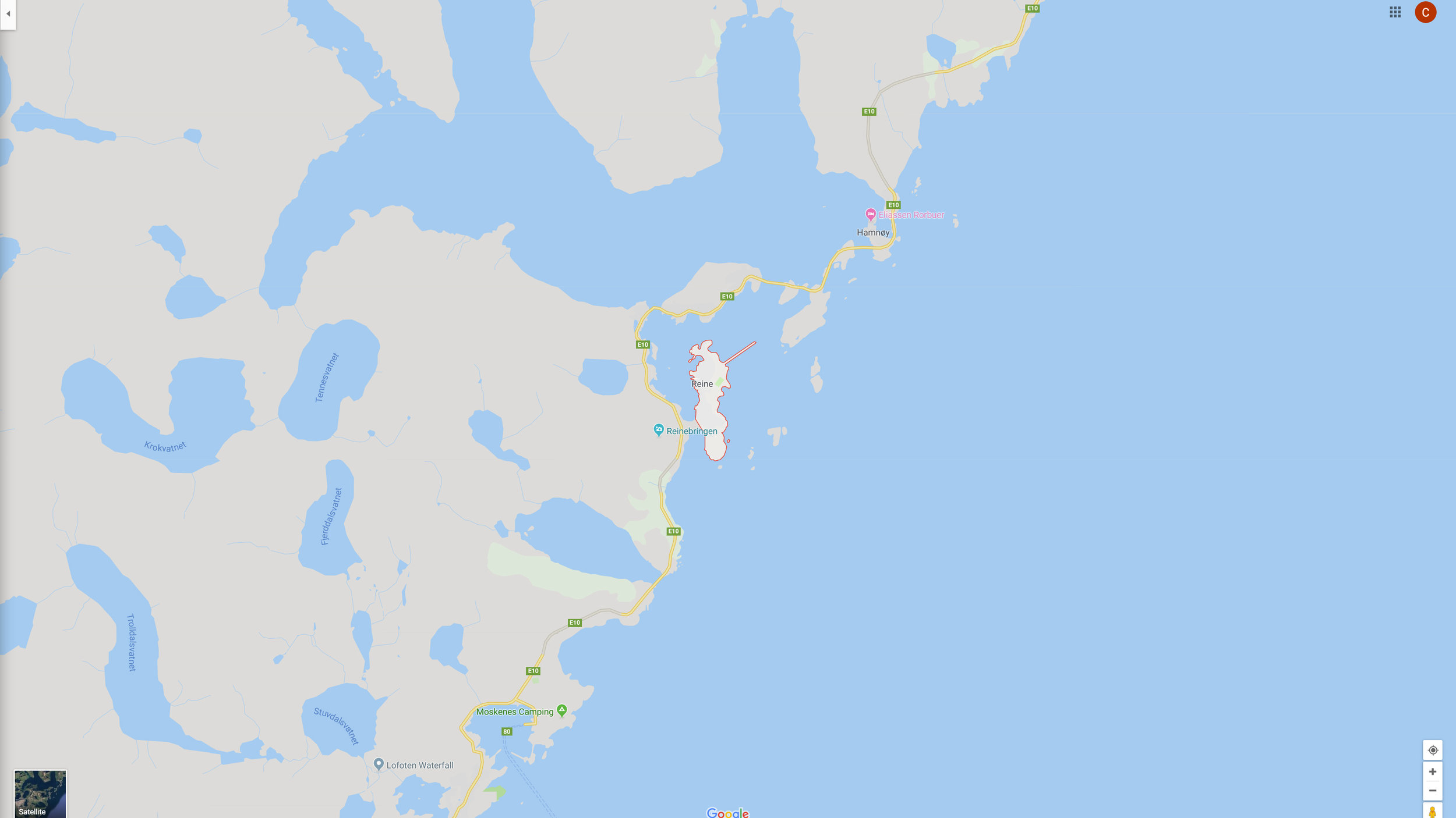 Map of Reine