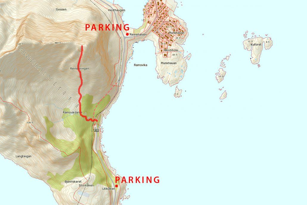 Reinebringen Map