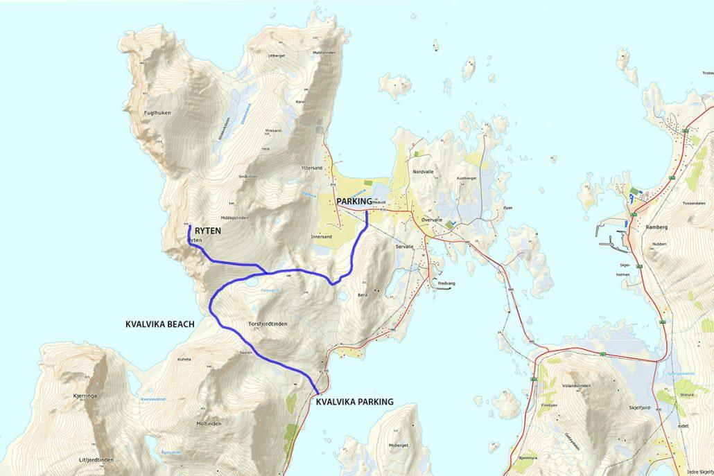 Ryten Hike Map