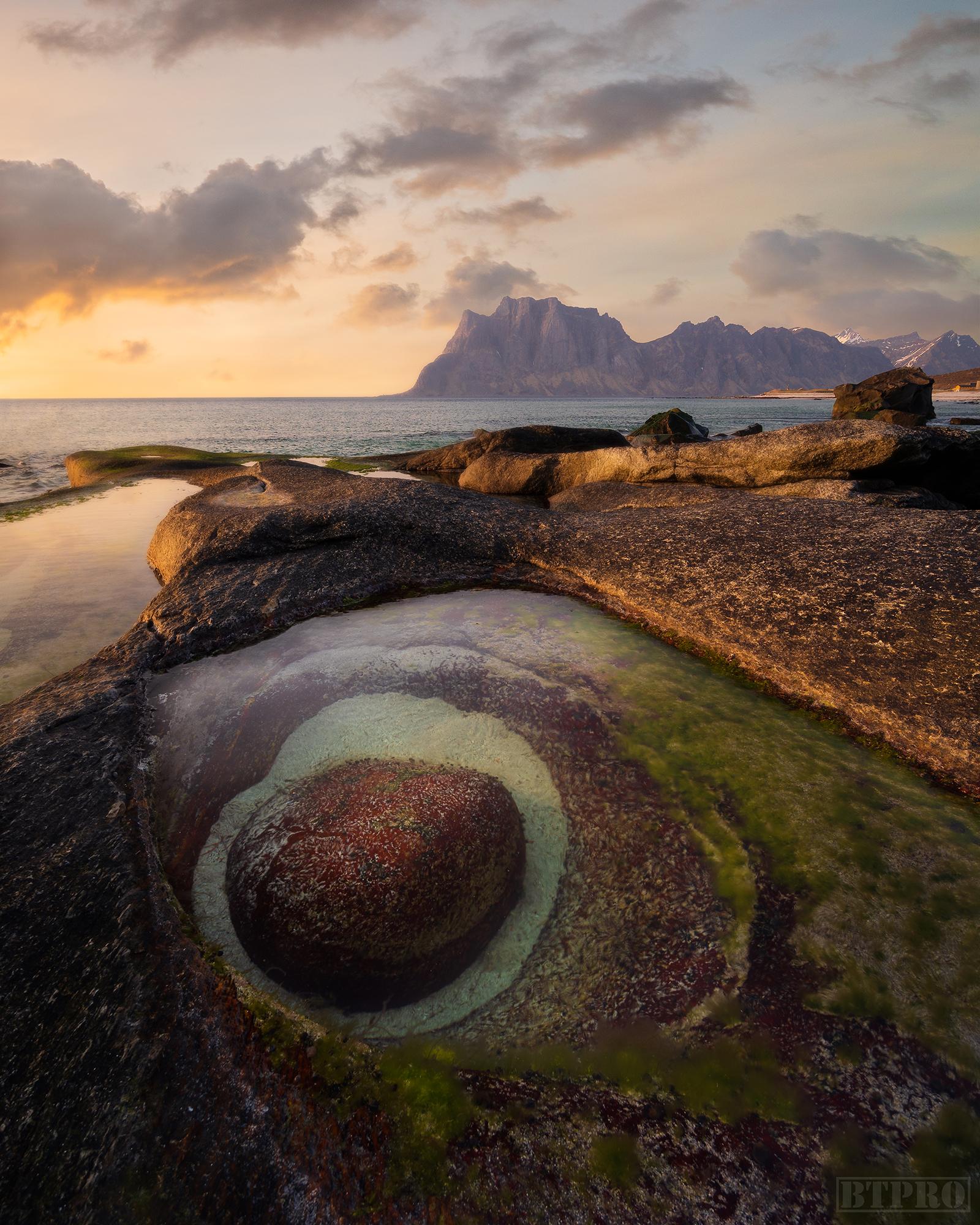 Dragon's Eye at Uttakleiv Beach