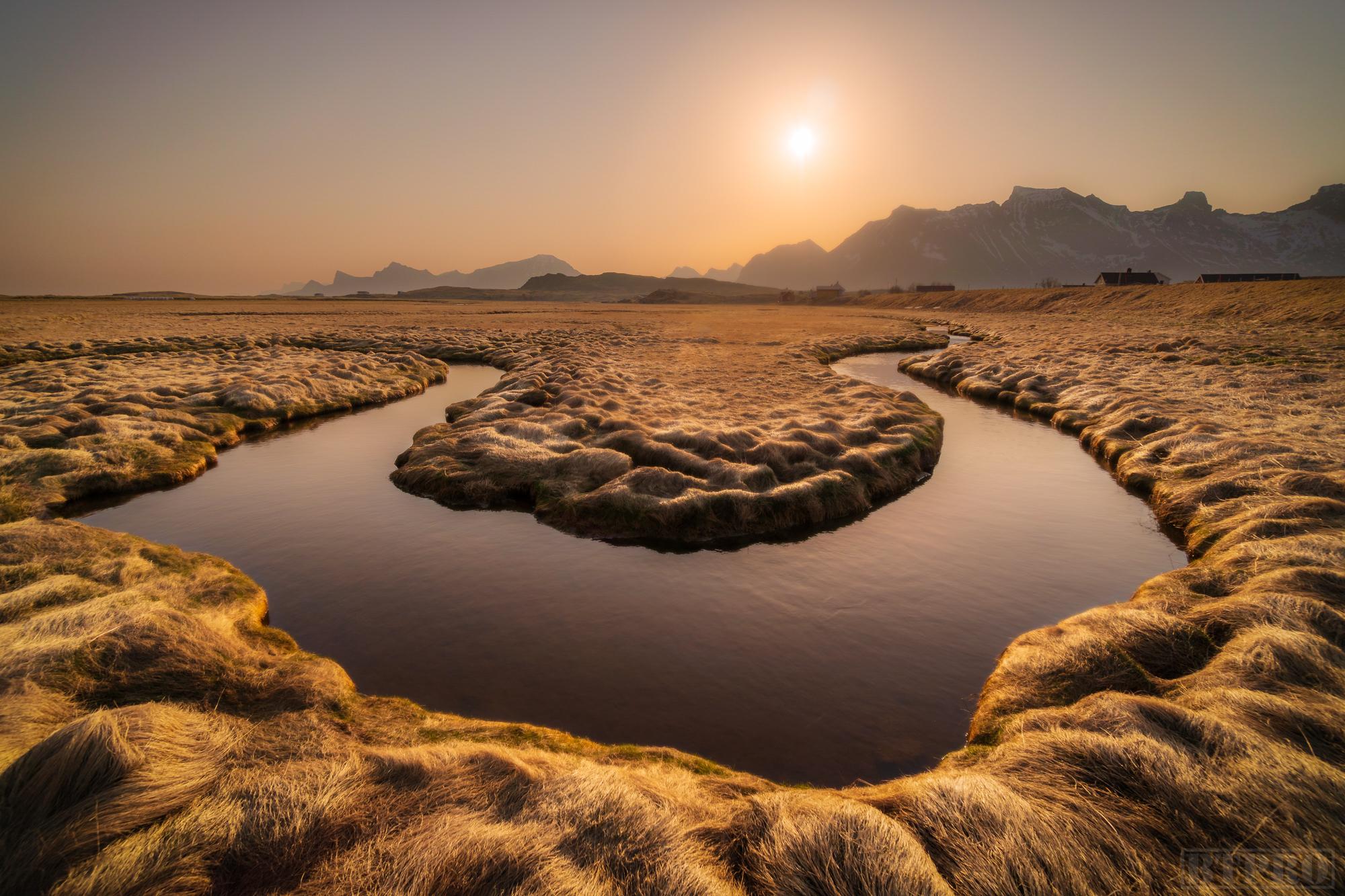 Fredvang Rivers at Sunrise