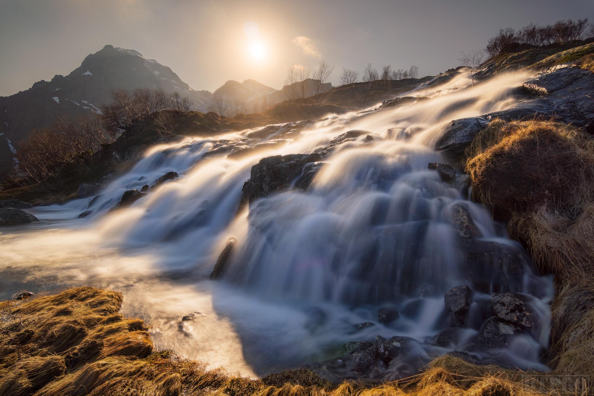 Waterfall at Munkebu Hut Hike