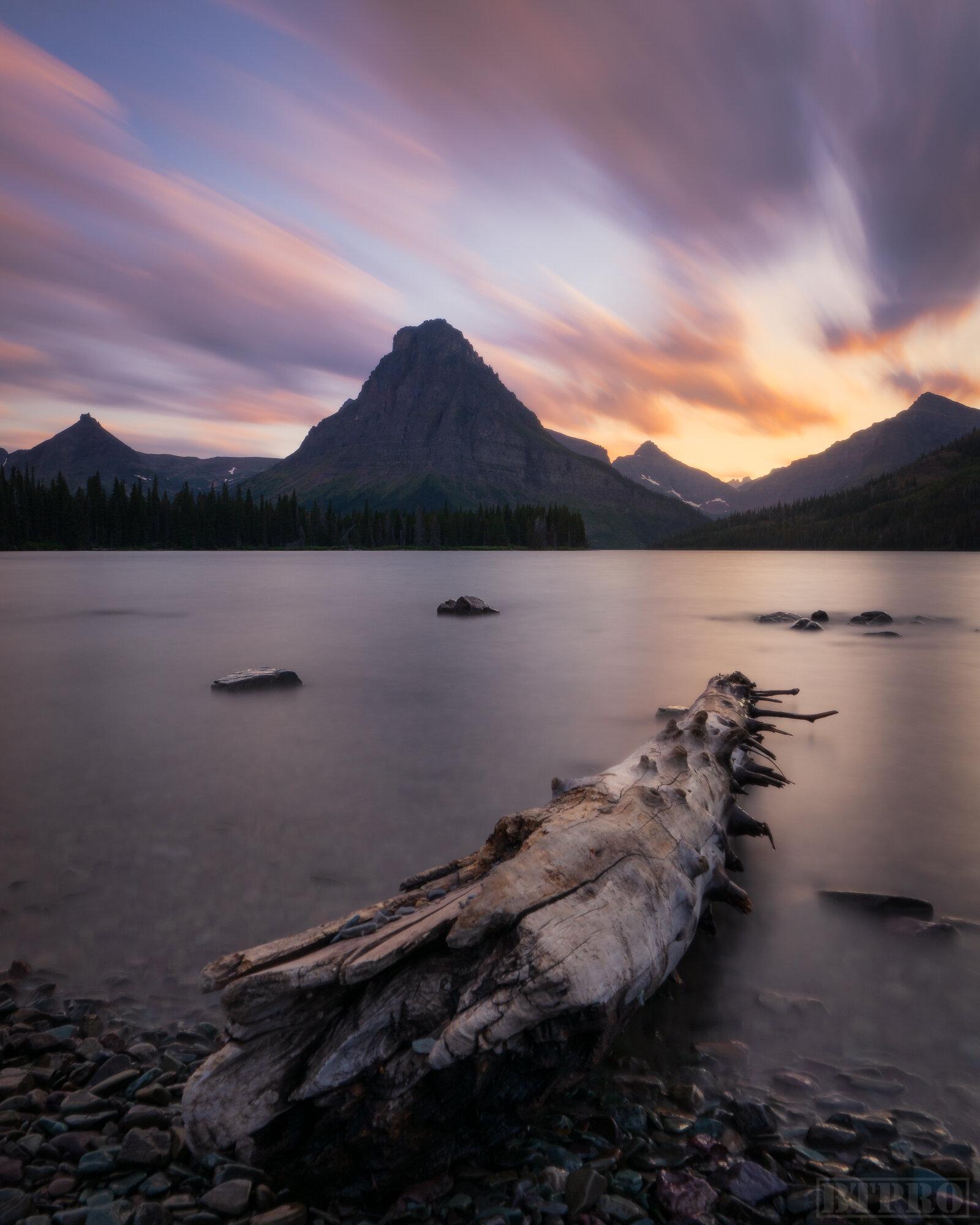 Sunset at Two Medicine Lake