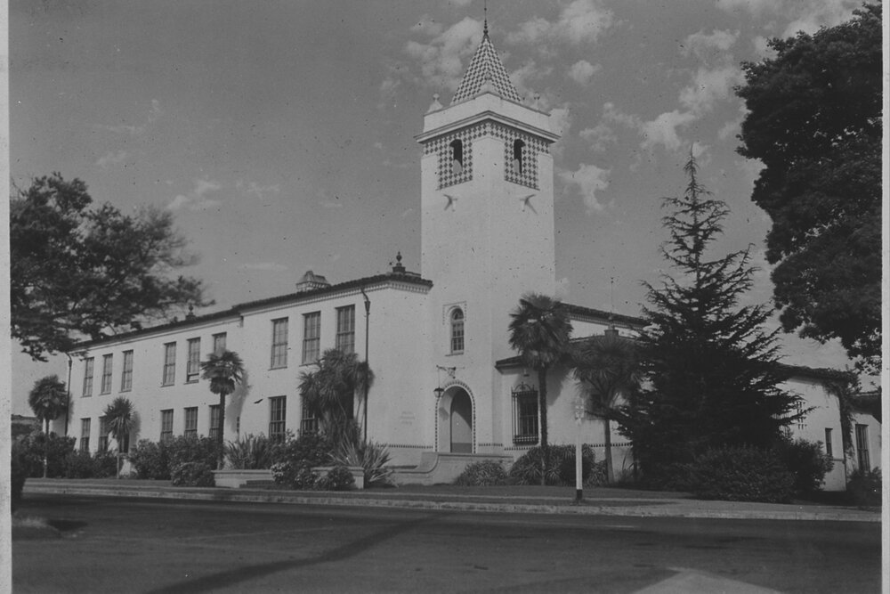 Image of Palisades Elementary School and Tower  Zola Clearwater Collection