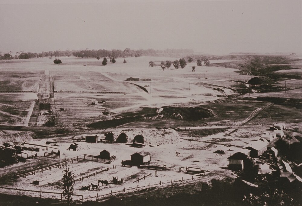 Image from Peace Hill – Monument and Via de la Paz; 1923 Grading Camp  Zola Clearwater Collection