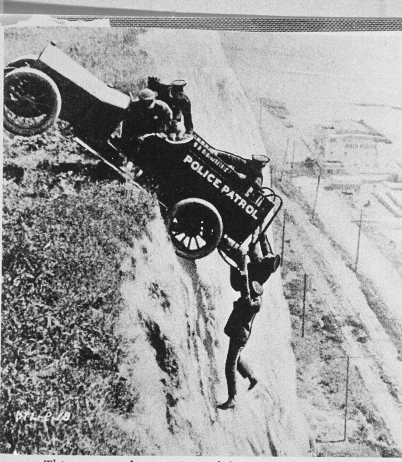 Keystone Cops movie stunt
