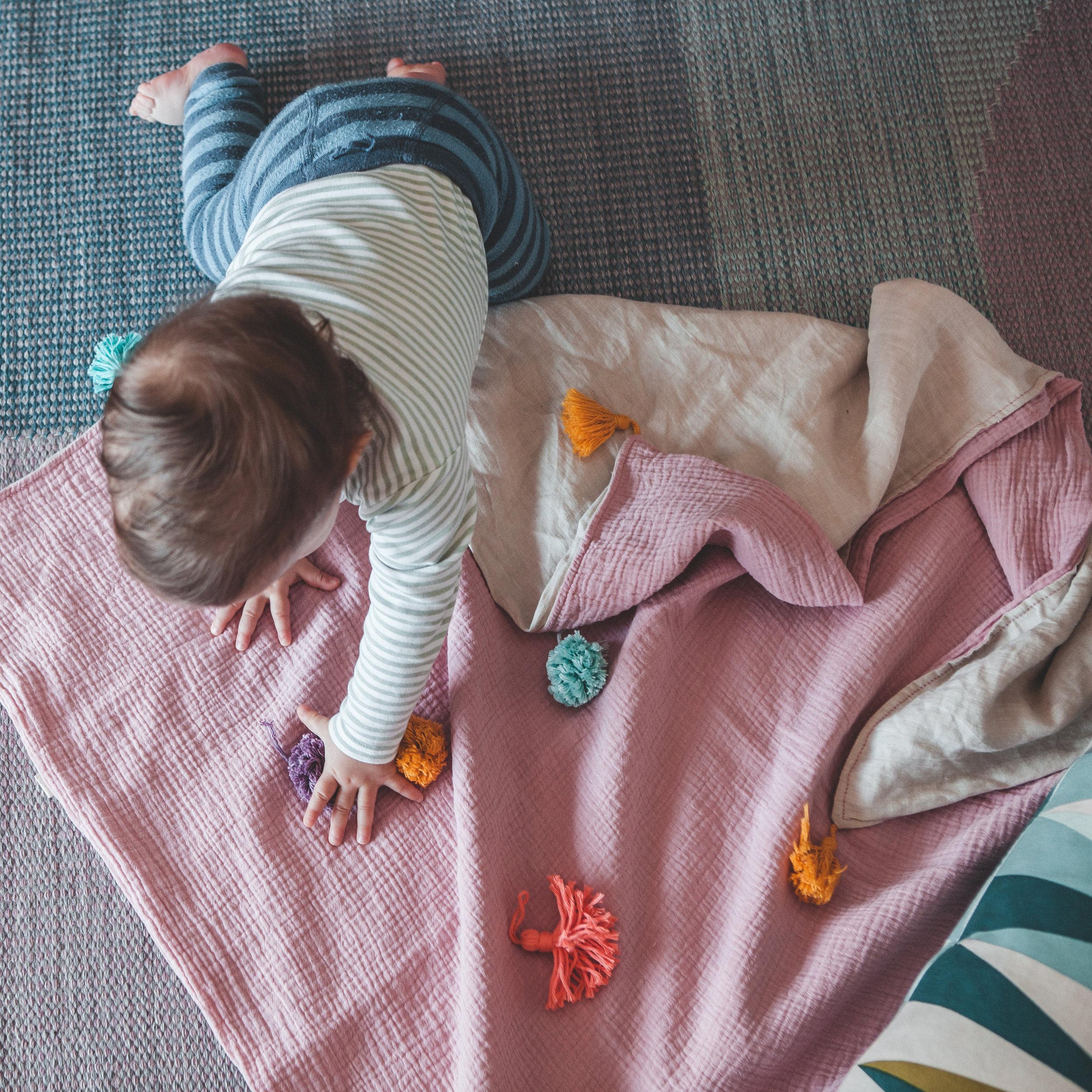 Pink blanket for the little girls