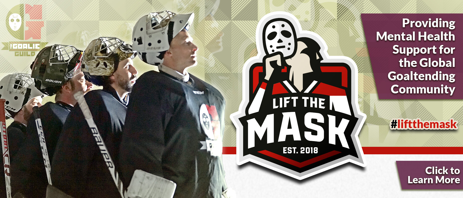 Lift The Mask Banner