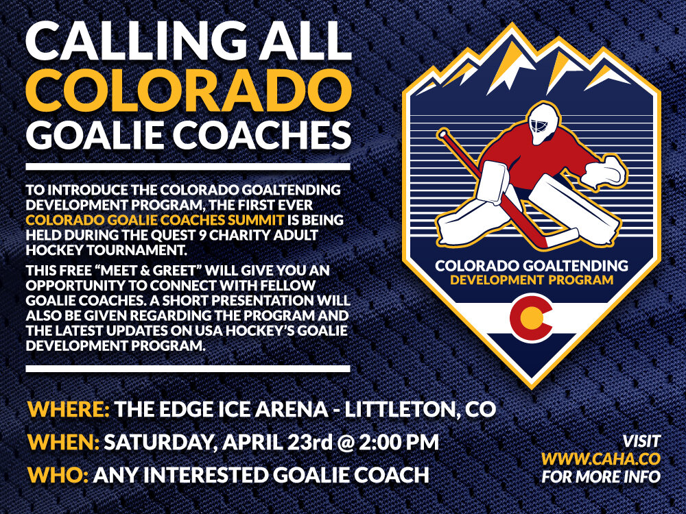Colorado Goaltending Development Program Ad
