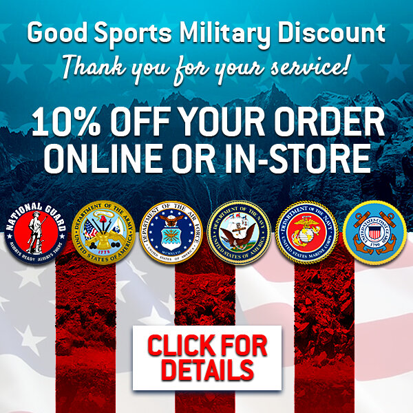 Good Sports Military Discount Ad