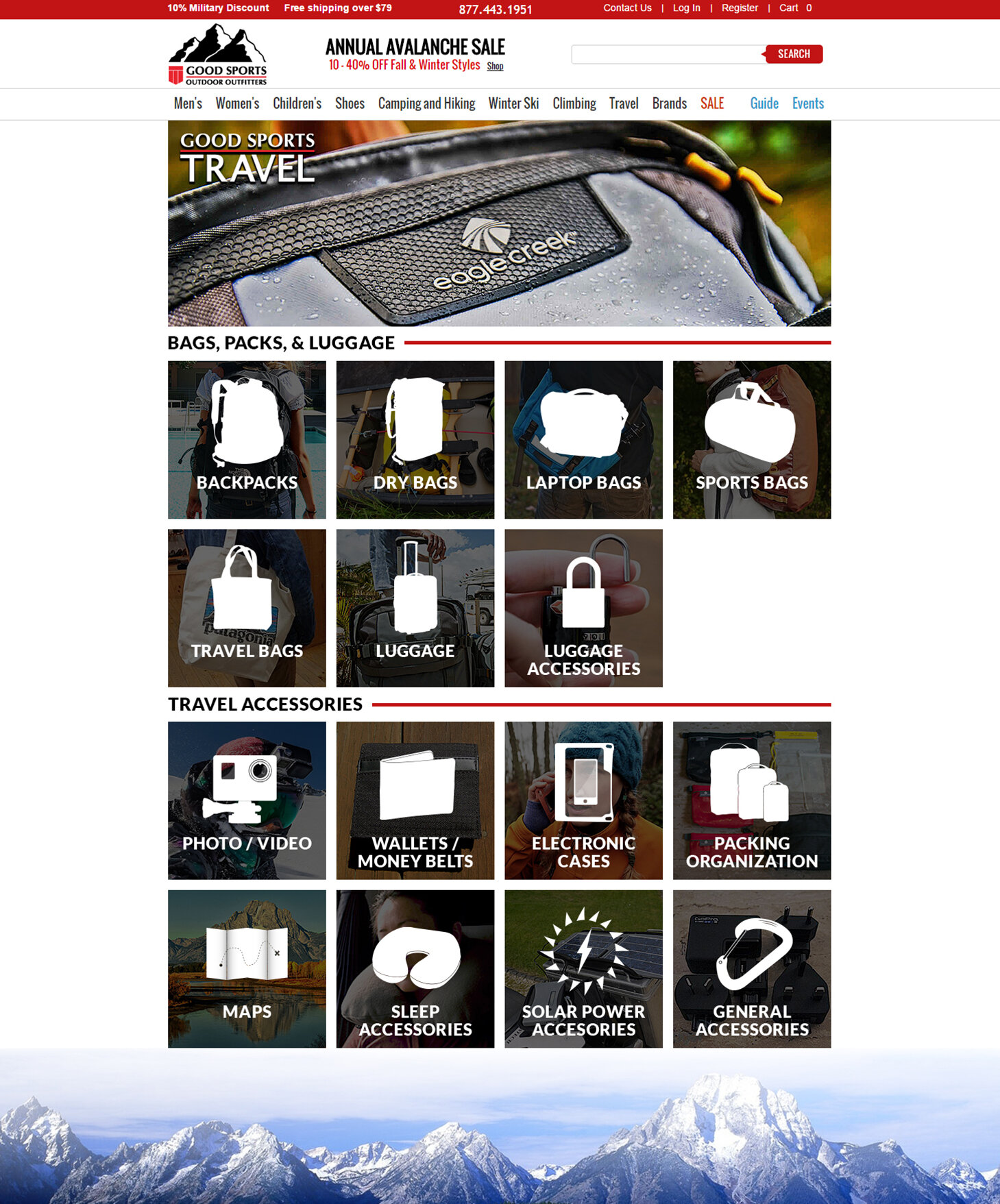 Travel Store Page Redesign
