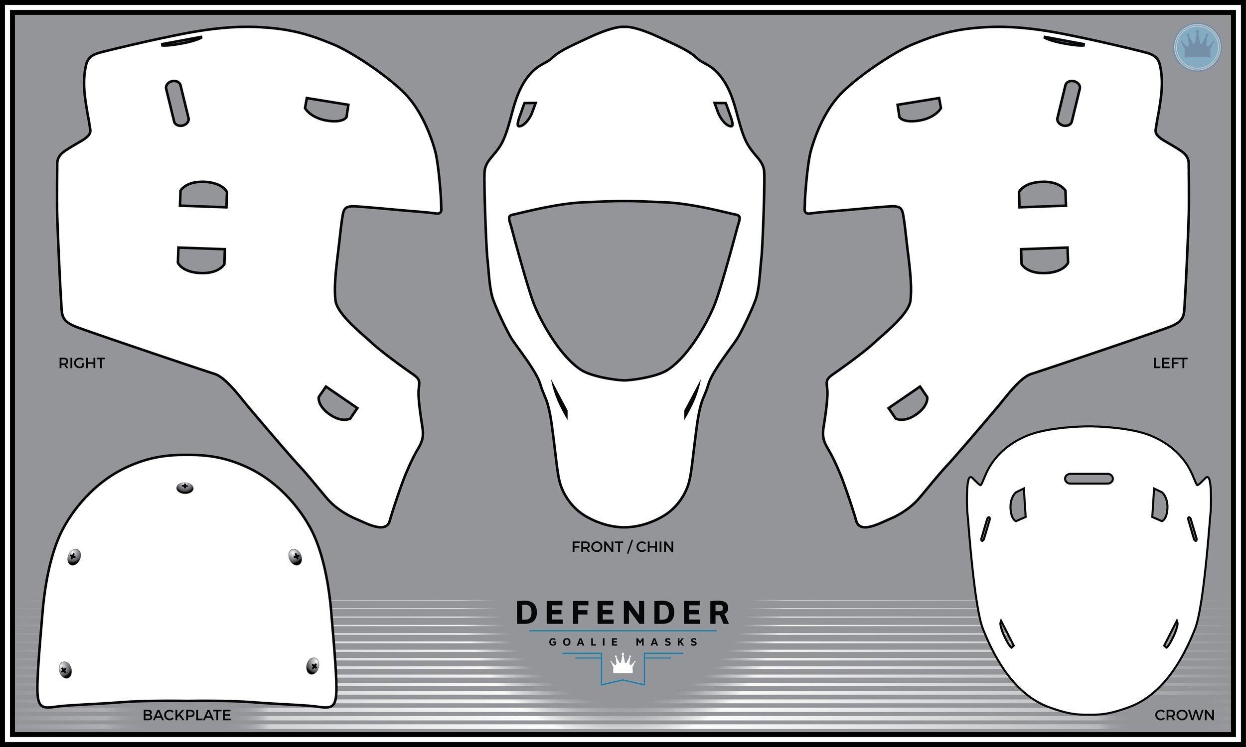 Defender Goalie Mask Design Template